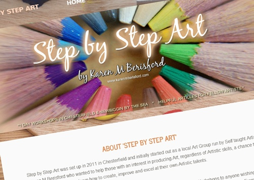 Coloursoft pencils for step by step art website header