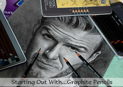 David Beckham pencil portrait in progress