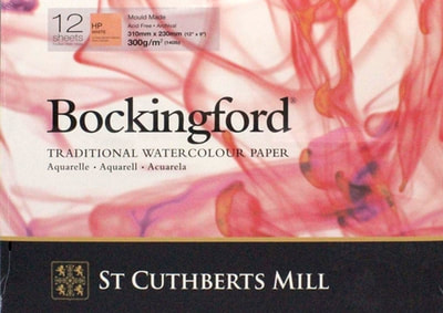 Bockingford hot pressed watercolour paper pad