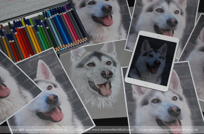 Northern Inuit photos and pencil portrait for a Coloured pencil Art Workshop run in Chesterfield, Derbyshire