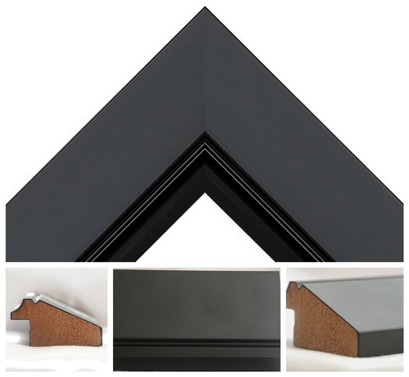 Black Satin 50mm wide moulding - Brimington